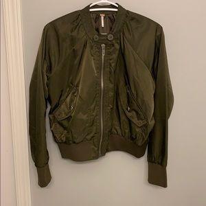 Free people women's army green jacket